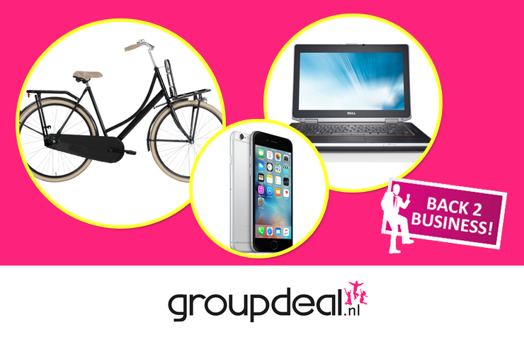 Back 2 Business met Groupdeal.nl!