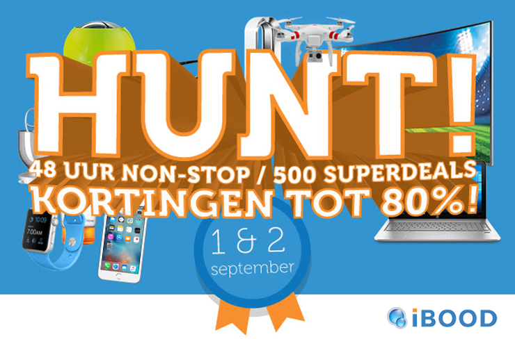 1 & 2 september 2016: iBOOD Hunt!