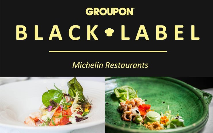 Black Label: Michelin restaurants bij Groupon