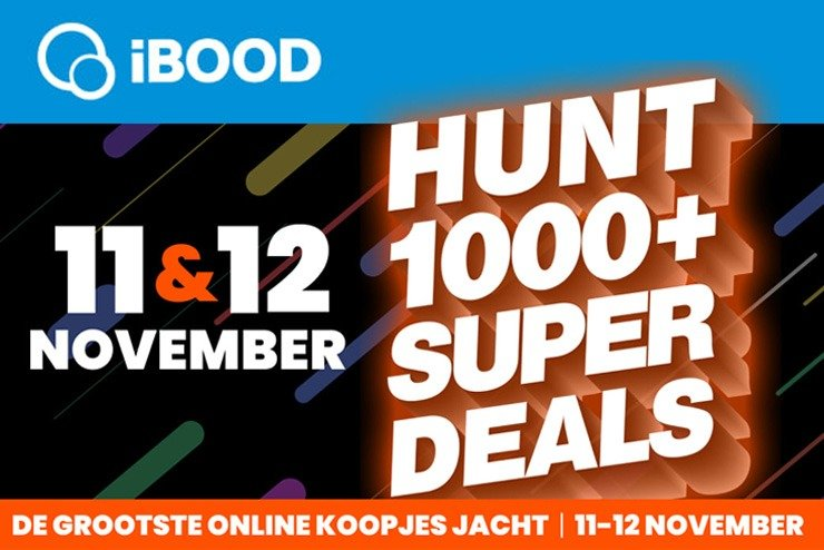 Dinsdag 10 november: iBOOD HUNT: 11 en 12 november 2020